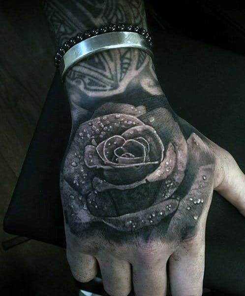 Hand Rose Tattoo Ideas