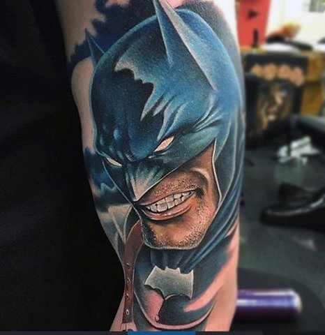 Batman Half Sleeve Tattoo
