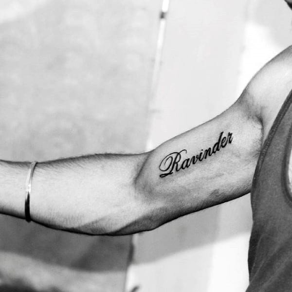 Small Name Inner Arm Tattoo