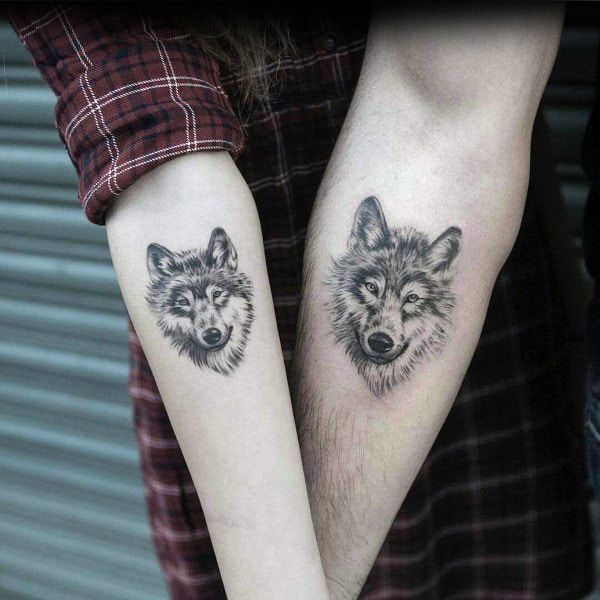 Wolf Couples Tattoos