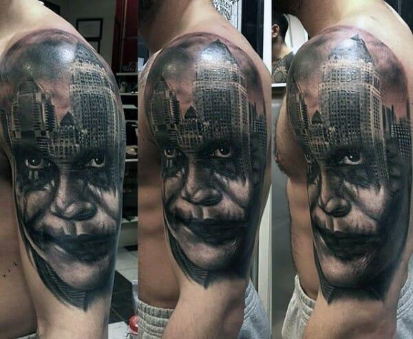 The Joker Half Sleeve Tattoo