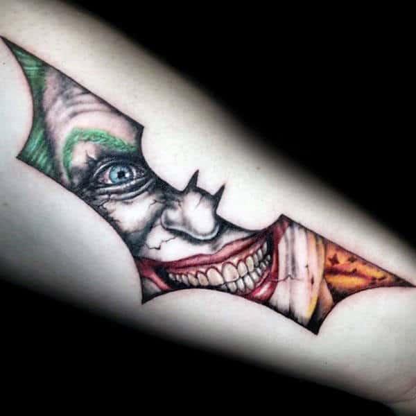 Batman Crest with The Joker Smiling
