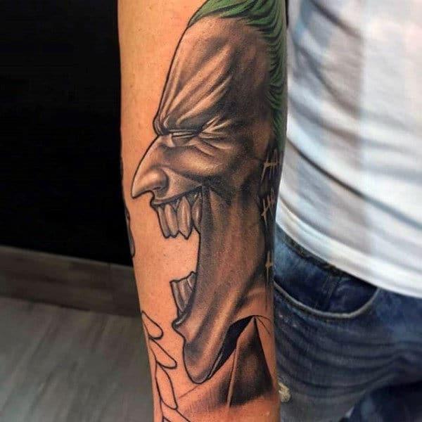 Laughing Joker Tattoo Idea