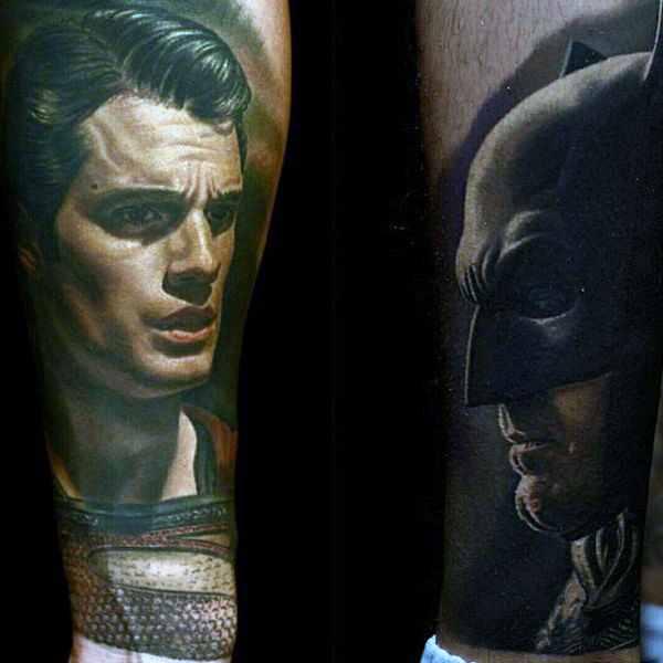 Batman Tattoo Arm Design