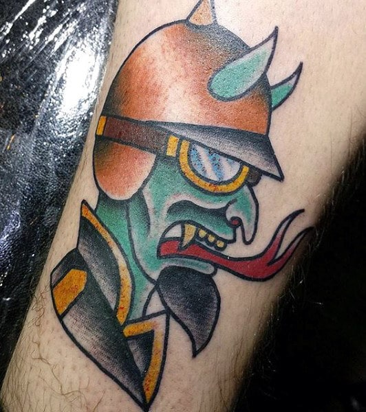 Modern Demon Tattoo
