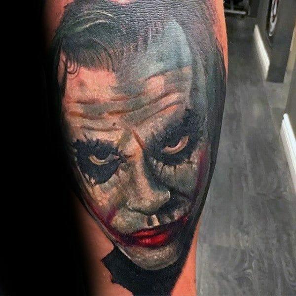 The Joker Portrait Tattoo