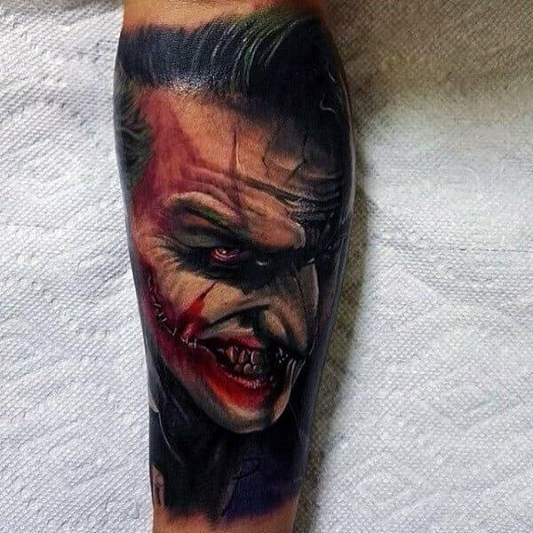 Man with The Joker Sleeve
