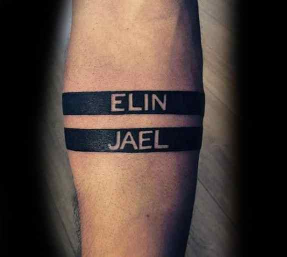 Kids Name Arm Band Tattoo
