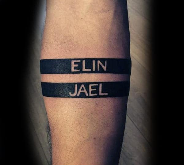 ce44e8bf6 101 kids name tattoo ideas, incl initials, symbols and dates - Outsons