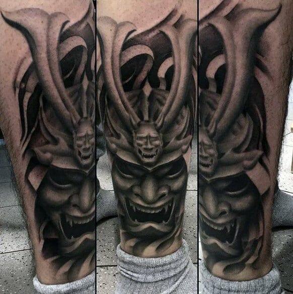 horned samurai mask
