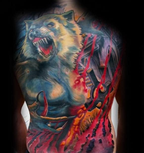 Full Back Wolf Tattoo