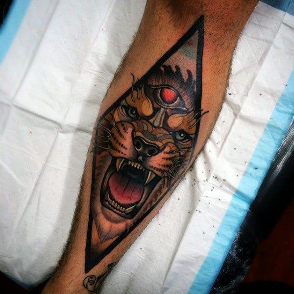 Tiger Leg Tattoo