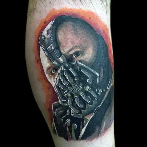 Bane 3D Arm Tattoo