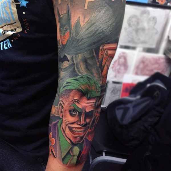 Batman & Joker Sleeve Tattoo