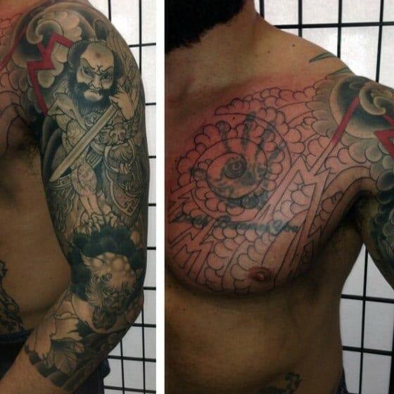 Samurai Cover Up Design
