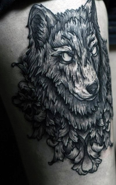 Traditional Wolf Tattoos