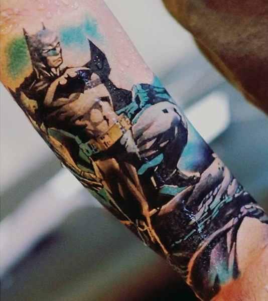 Cool Batman Wrist Tattoo