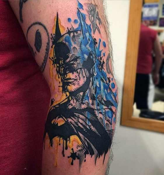 Cool Batman arm Tattoo Design