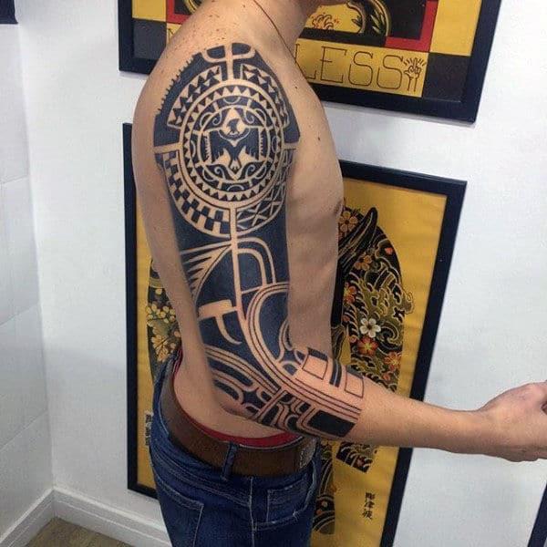 Hawaiian Arm Sleeve Tattoo