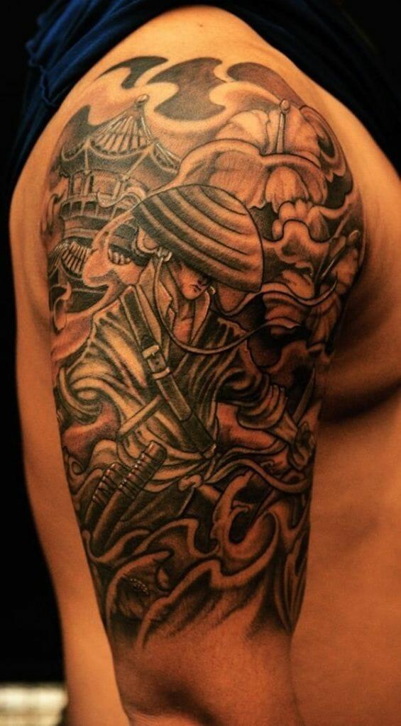 Samurai Tattoo Cover Up
