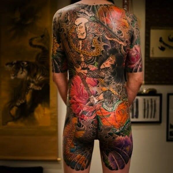 Full Samurai Tattoo Irezumi