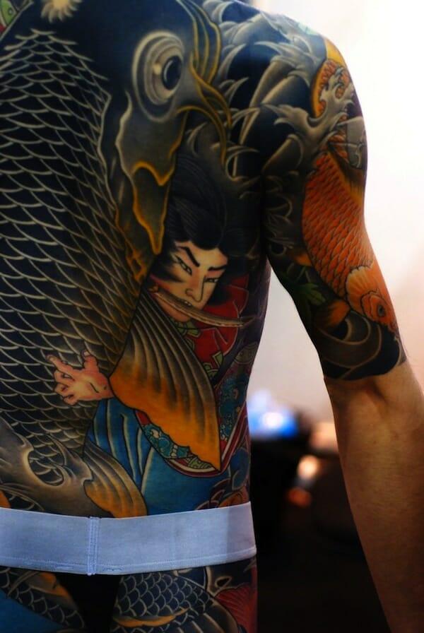 samurai koi tattoo