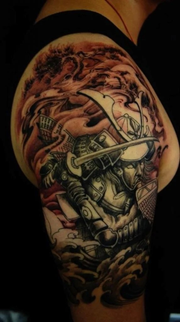 Samurai Lotus Tattoo