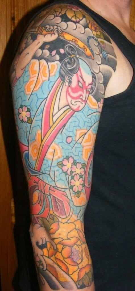 samurai vintage tattoos