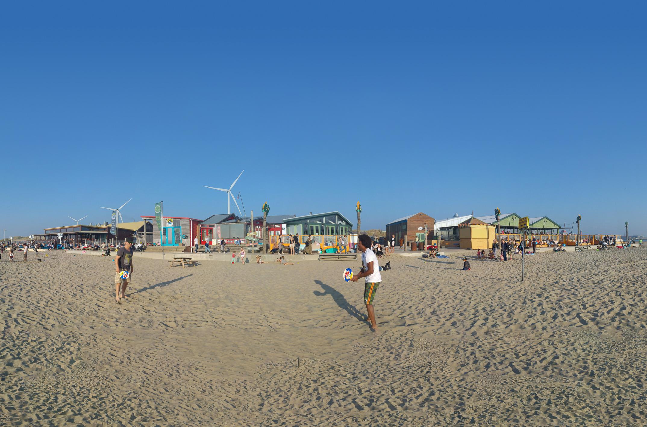 Outstanding strandpaviljoen terassen