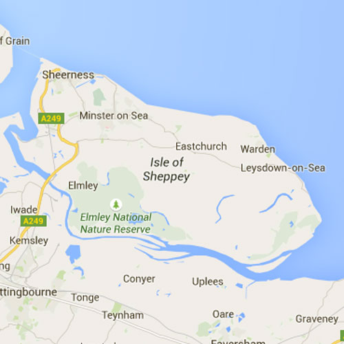 Isle of Sheppy Map