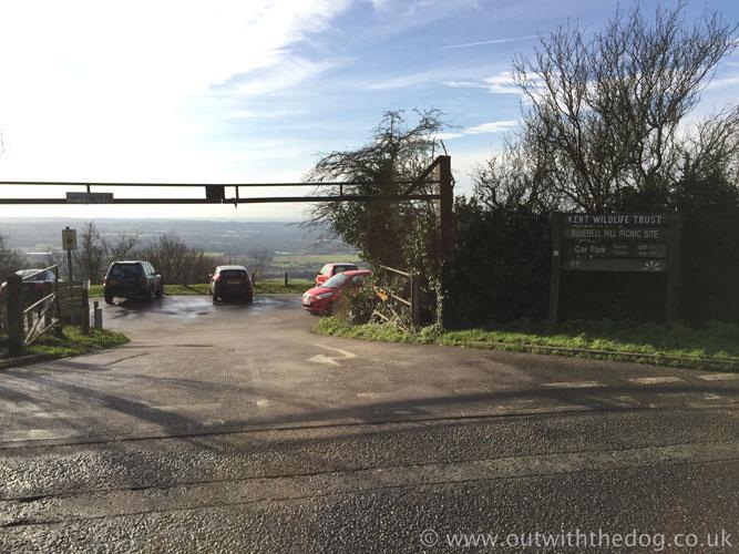 Blue Bell Hill - Carpark Entrance