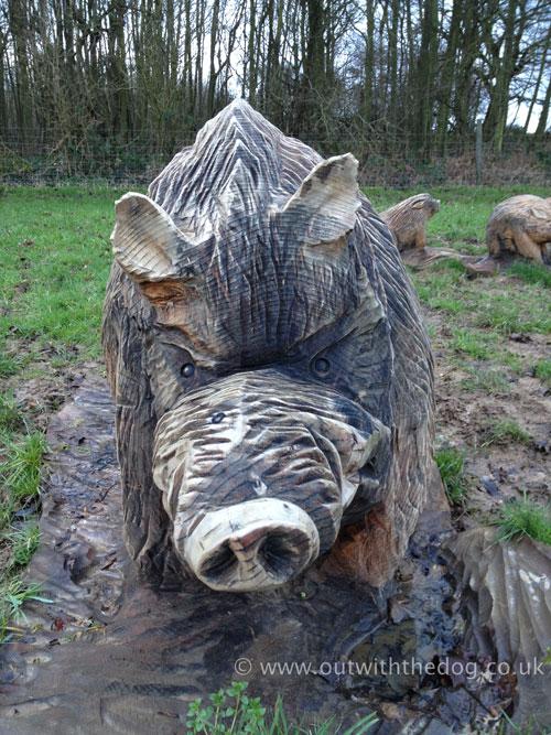 Hucking Carved Pig