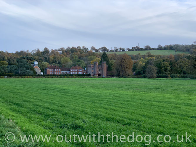 Lullingstone Country Park: View towards Lullingstone Castle