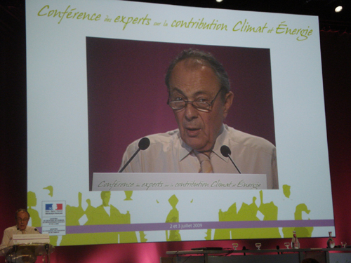 Michel Rocard conférence experts contribution climat énergie