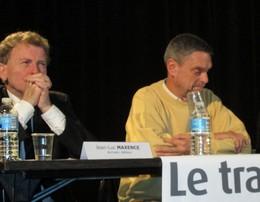De gauche à droite, Jean-Lux Maxence, poète, écrivain et éditeur et Jean-Luc Martin-Lagardette, ancien rédacteur en chef d'Ouvertures