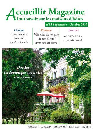 Accueillir Magazine n°83 septembre / octobre 2019
