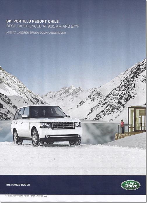 2012 Range Rover - Ski Portillo