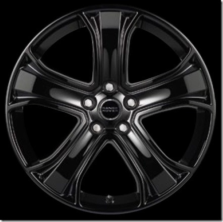 20in 5 Spoke Alloy Wheel - Gloss Black Finish