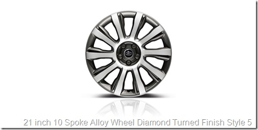 21 inch 10 Spoke Alloy Wheel Diamond Turned Finish Style 5