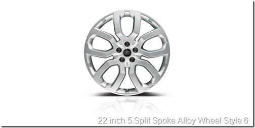 22 inch 5 Split Spoke Alloy Wheel Style 6