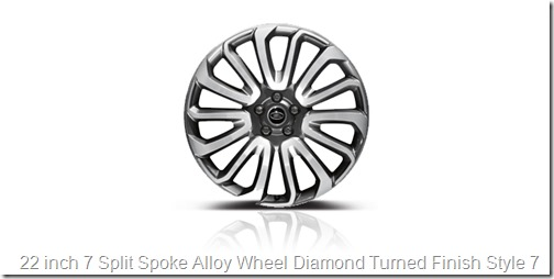 22 inch 7 Split Spoke Alloy Wheel Diamond Turned Finish Style 7