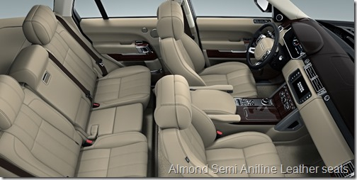 Almond Semi Aniline Leather seats
