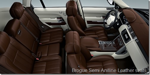 Brogue Semi Aniline Leather seats