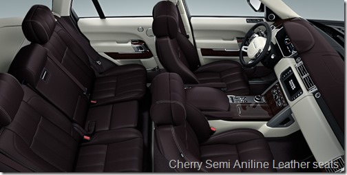 Cherry Semi Aniline Leather seats