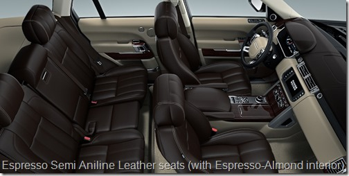 Espresso Semi Aniline Leather seats (with Espresso-Almond interior)