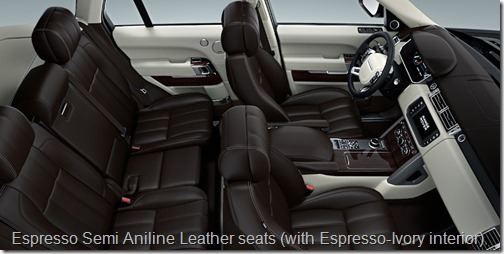 Espresso Semi Aniline Leather seats (with Espresso-Ivory interior)