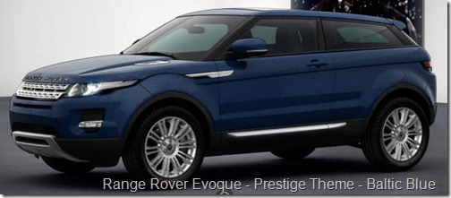 Range Rover Evoque - Prestige Theme - Baltic Blue