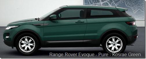 Range Rover Evoque - Pure - Kosrae Green