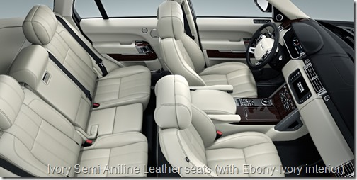 Ivory Semi Aniline Leather seats (with Ebony-Ivory interior)