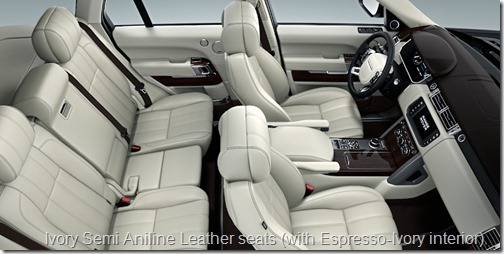 Ivory Semi Aniline Leather seats (with Espresso-Ivory interior)